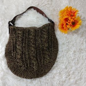 New 1969 Gap Jeans Cable Knit Woven Hobo Handbag